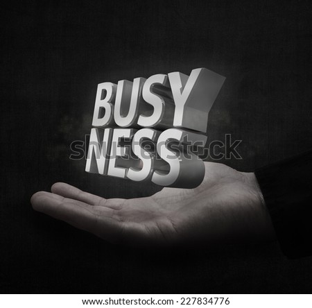 Dark background business concept - stock photo