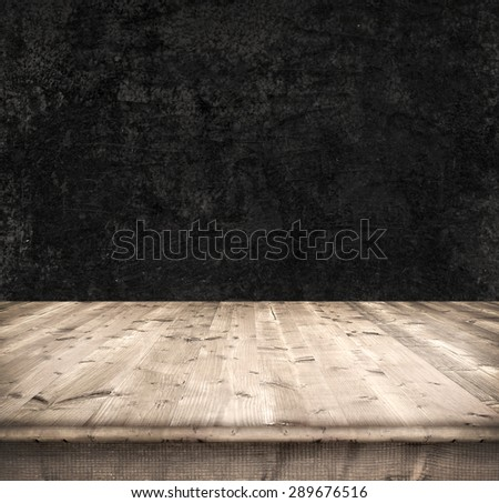 Dark background from boards and wall - stock photo