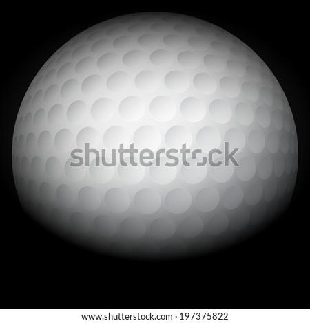 Dark Background of traditional golf ball. Bitmap copy. - stock photo