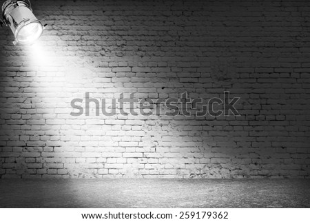 Dark background with spotlight - stock photo