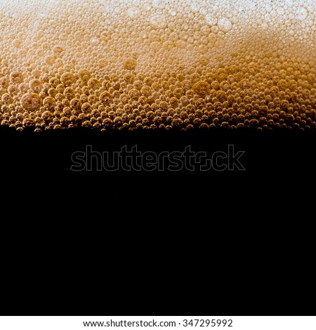 dark beer closeup - stock photo