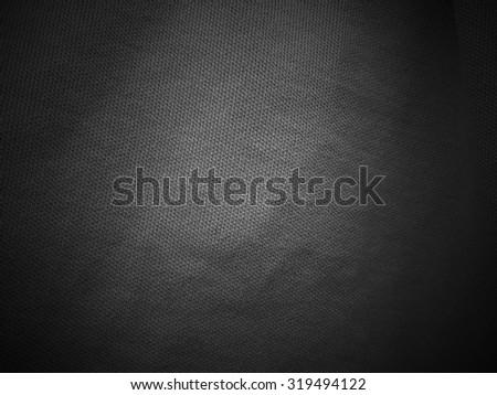 Dark black fabric texture background, linen - stock photo