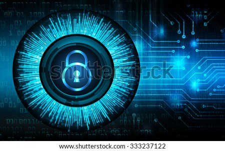 dark blue Abstract digital conceptual technology security background with lock. computer technology website internet web. infographics. key - stock photo