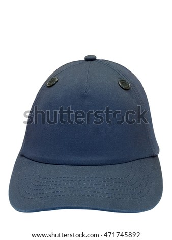 Dark blue baseball cap isolated on white background.