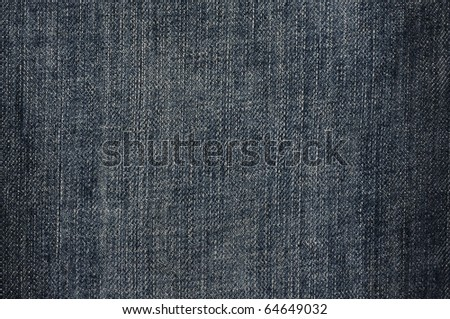dark blue denim jeans texture with fade and pale - stock photo