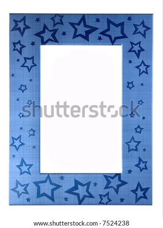 Dark blue frame on a white background