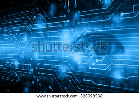 dark blue illustration of technology internet network computer background with binary number, style background. infographics. Information. motion blur. pixel. Binary digit. number.