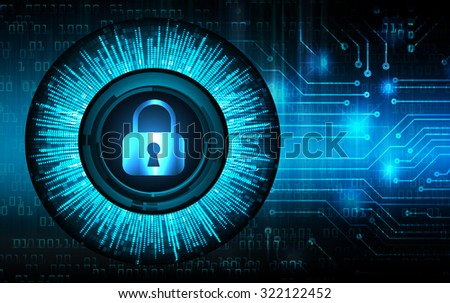 Dark blue Light Abstract Technology background for computer graphic website internet business.circuit.illustration. infographics.motion move blur.neon.pixel. Binary digit.  pixel. lock, key, Padlock - stock photo