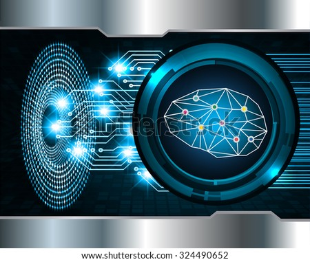 Dark blue Light Abstract Technology background for computer graphic website internet business. circuit. vector illustration. infographics. motion move blur.neon. Brainstorm, Brain. Bulb Ideas - stock photo