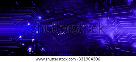 Dark blue Light Abstract Technology background for computer graphic website internet business. circuit. illustration. infographics. motion move blur.neon. pixel. Binary digit