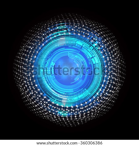 Dark blue Light Abstract Technology background for computer graphic website internet business. circuit. vector illustration. infographics. motion move blur.neon.eye - stock photo