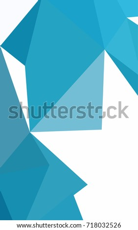 Dark BLUE shining triangular background. Triangular geometric sample with gradient.  Brand-new design for your business.
