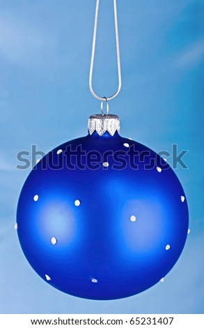 Dark blue sphere on a blue background