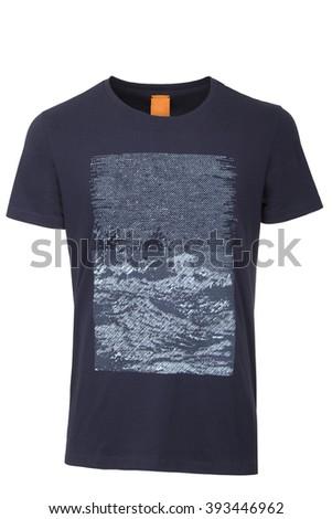 Dark blue t-shirt  - stock photo