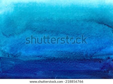 dark blue watercolor - stock photo