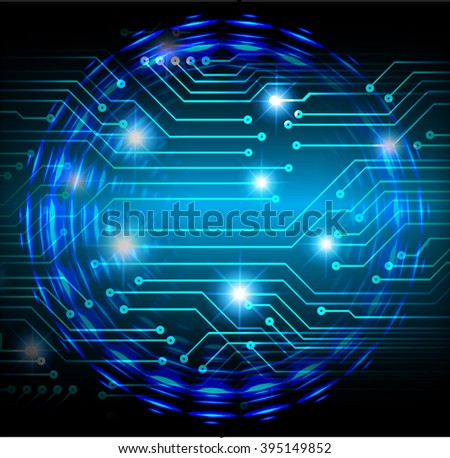 dark blue wave Light Abstract Technology background for computer graphic website internet and business. circuit. illustration. digital. infographics. binary code background. www.Spark.zero one  - stock photo