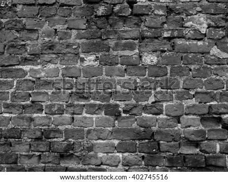 Old Red Brick Background Texturesblack White Stock Photo 671887873