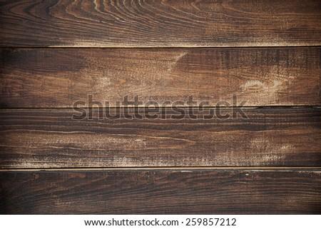 Dark brown board texture background - stock photo