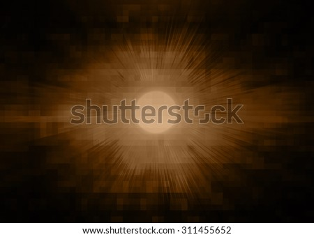 dark brown illustration of technology internet network computer background with binary number, style background. infographics. Information. ray. wave. pixel.  - stock photo