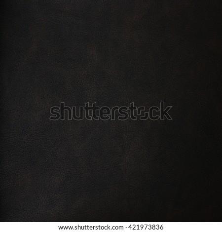 Dark brown leather texture - stock photo