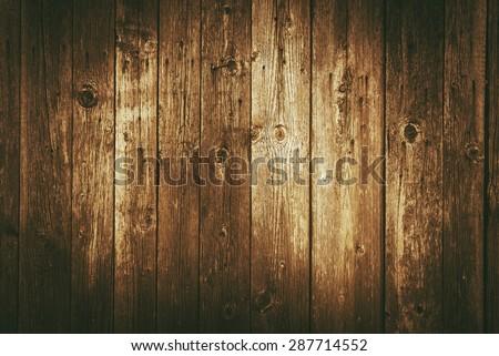 Dark Brown Vintage Wood Planks Background - stock photo