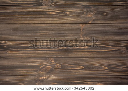Dark brown vintage wooden old planks background - stock photo