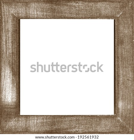 dark brown vintage wooden photo frame - stock photo