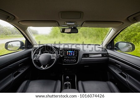 Clujnapoca Romania August Toyota Aurisyear Stock Photo - Car image sign of dashboardcar dashboard sign multifunction display stock photo royalty