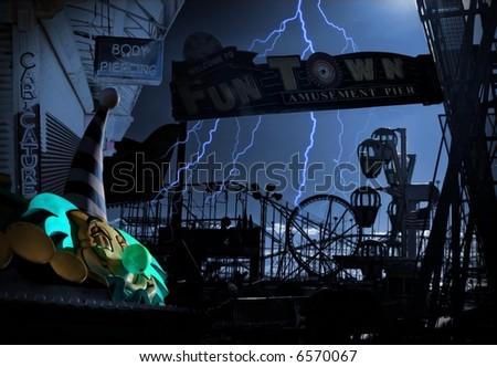 Dark Carnival - stock photo