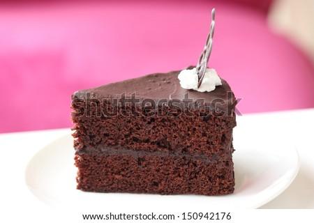 Dark chocolate cake - stock photo