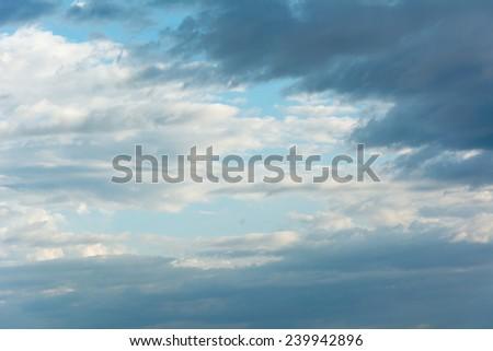 Dark cloud in the rainy season. - stock photo