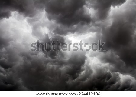 Dark Clouds - Big Storm - stock photo