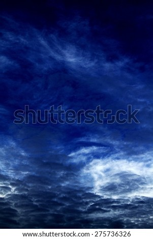 dark clouds in the sky - stock photo