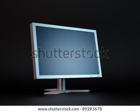 Dark computer display monitor - stock photo