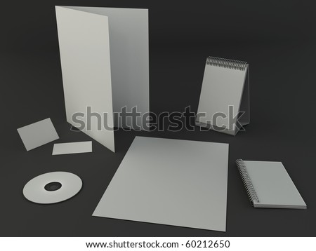 Dark design presentation template - stock photo