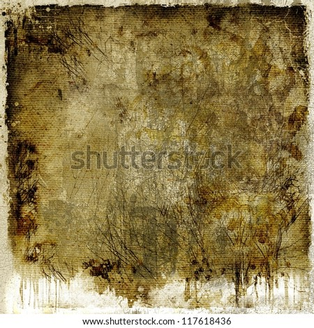 Dark dripping abstract background - stock photo