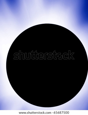 dark eclipse on a soft blue background - stock photo