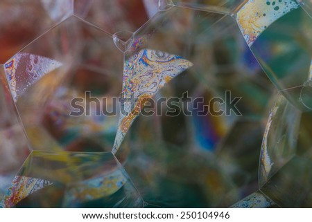 dark foam bubbles abstraction - stock photo