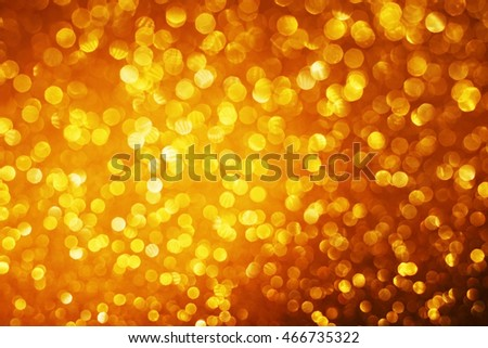 dark gold small bokeh abstract background