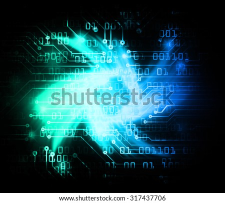 Dark green blue Light Abstract Technology background for computer graphic website internet business.circuit.illustration. infographics.motion move blur.neon. pixel. Binary digit. rotate, spiral,whorl - stock photo