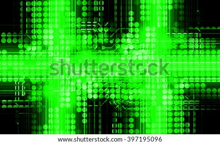 dark green Circle wave illustration of technology internet network computer background with binary number, style. infographics. Information. motion blur. pixel. Binary digit. number. web wabsite tech