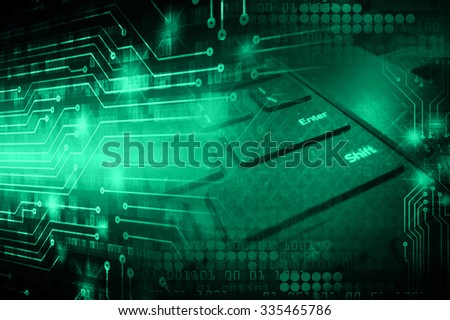 dark green illustration of technology internet network computer background with binary number, style background. infographics. Information. motion blur. pixel. Binary digit. number