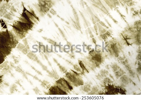 Dark green tie dye batik fabric for background and texture - stock photo