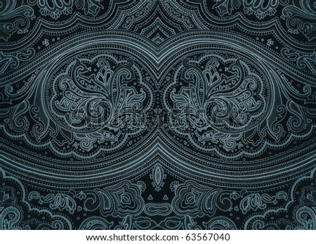 Dark grunge arabian style decorative ornament. More of this motif & more ornaments in my port - stock photo