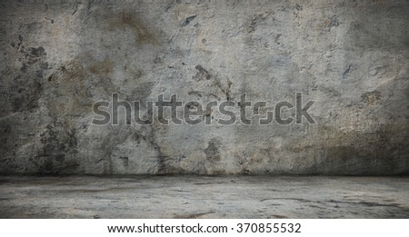 dark grunge interior - stock photo