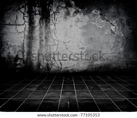 Dark Grunge Room. Digital background for studio photographers. - stock photo
