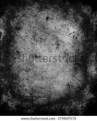 Dark Grunge Wall Texture, Scary Distressed  Background