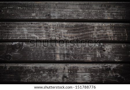 Dark grunge wood background - stock photo