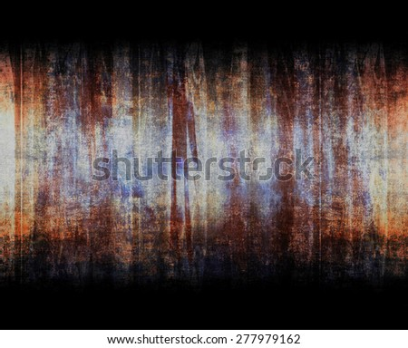 Dark grungy linear pattern on the black background. - stock photo