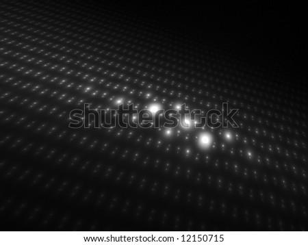Dark Intense Monochrome Orbs 3D - stock photo